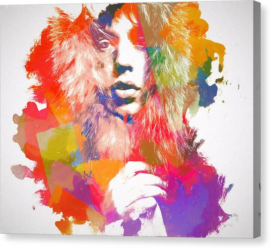 Moves Like Jagger Canvas Print - Mick Jagger Watercolor by Dan Sproul