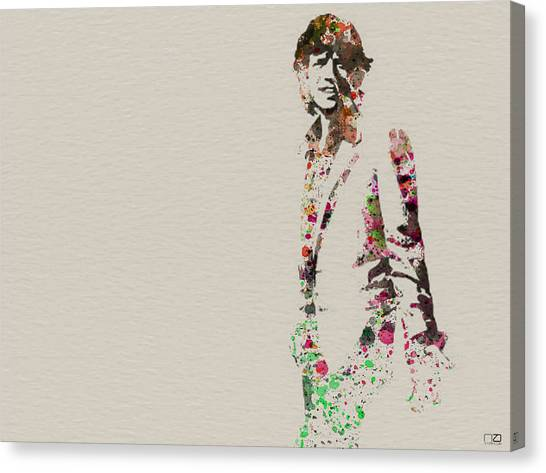 Rolling Stones Canvas Print - Mick Jagger Watercolor by Naxart Studio