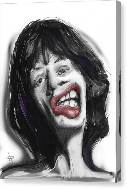 Mick Canvas Print by Russell Pierce
