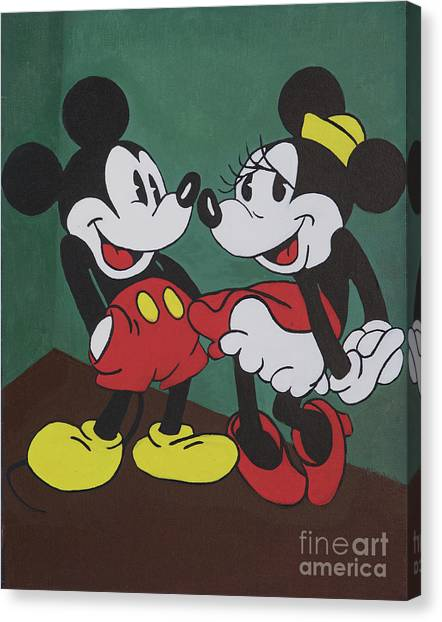 Mickey And Minnie Canvas Print