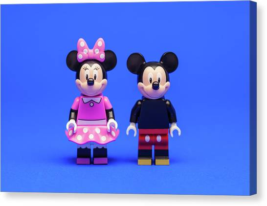 Mouse Canvas Print - Mickey And Minnie by Samuel Whitton