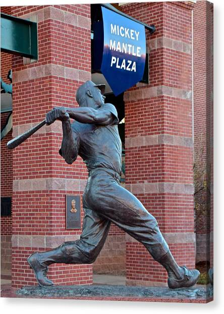 Mickey Mantle Canvas Print - Mickey Mantle by Frozen in Time Fine Art Photography