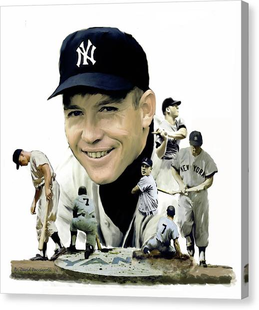 Mickey Mantle Canvas Print - Mickey Mantle Legacy, II  by Iconic Images Art Gallery David Pucciarelli