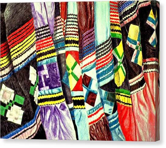 Micosukee Skirts Canvas Print by Sam Vega