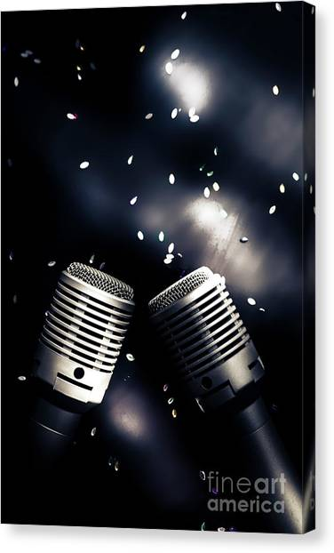 Microphones Canvas Print - Microphone Club by Jorgo Photography - Wall Art Gallery