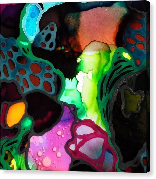 Modern Microscopic Art Canvas Print - Microscopic World #2 by Angela McKenzie