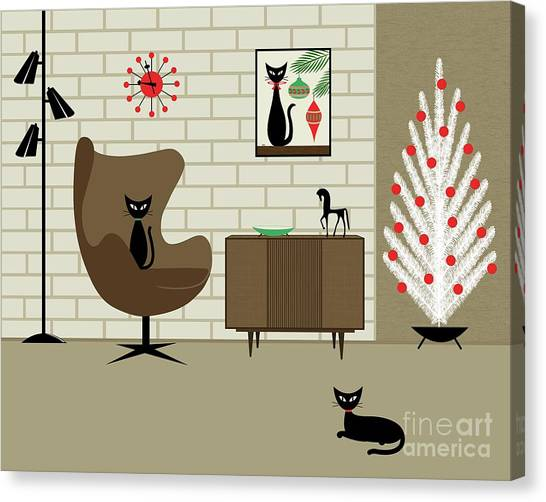 Mid-century Christmas Canvas Print