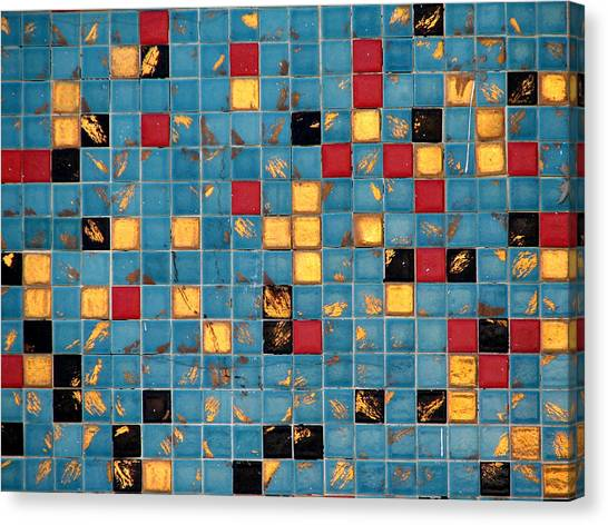Mid Century Tiles Canvas Print