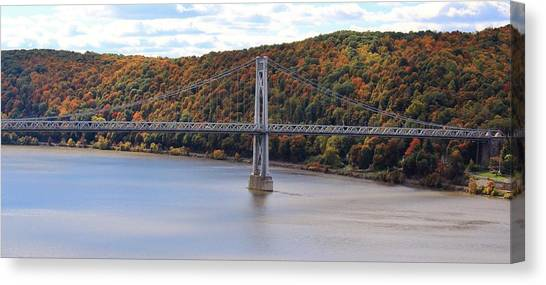 Mid Hudson Bridge In Autumn Canvas Print