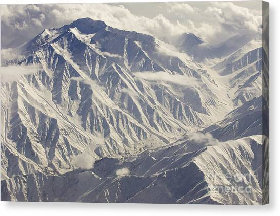 Hindu Kush Canvas Print - Mid Winter In The Hindu Kush Mountians In Color by Tim Grams