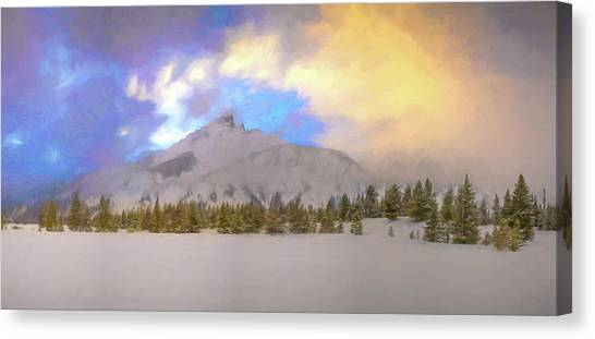 Mid-winter Sunset Canvas Print