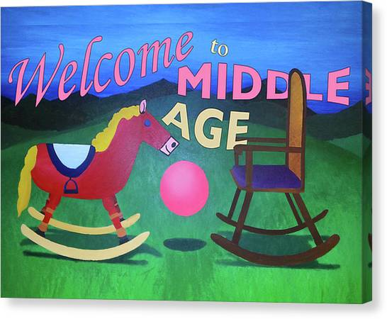 Middle Age Birthday Card Canvas Print