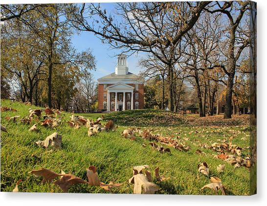Canvas Print featuring the photograph Middle College On An Autumn Day by Viviana  Nadowski