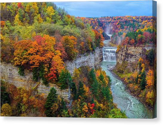 Middle Falls Peak Canvas Print