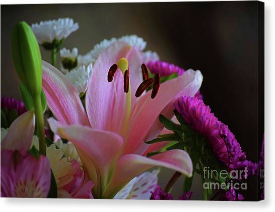 Middle Lily Canvas Print