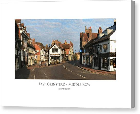Middle Row East Grinstead Canvas Print