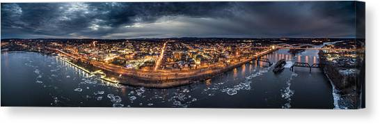 Middletown Ct, Twilight Panorama Canvas Print