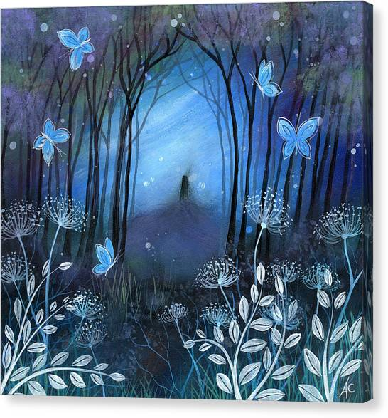 Midnight Canvas Print by Amanda Clark