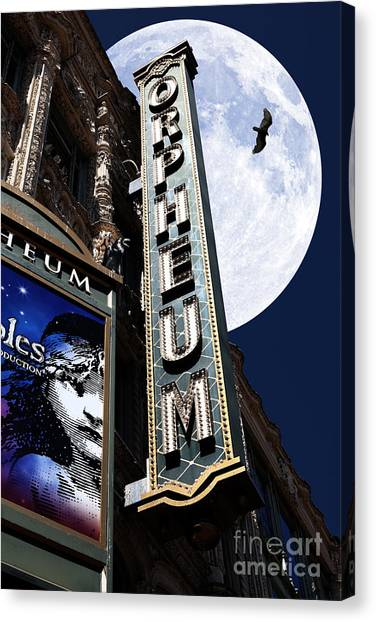 Orpheum Canvas Print - Midnight At The Orpheum - San Francisco California - 5d17991 by Wingsdomain Art and Photography