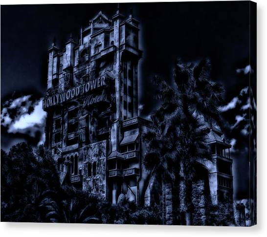 Surrealism Canvas Print - Midnight At The Tower Of Terror Mp by Thomas Woolworth