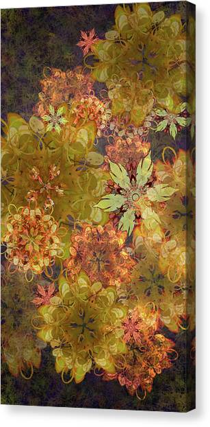 Midnight Blossom Bouquet Canvas Print