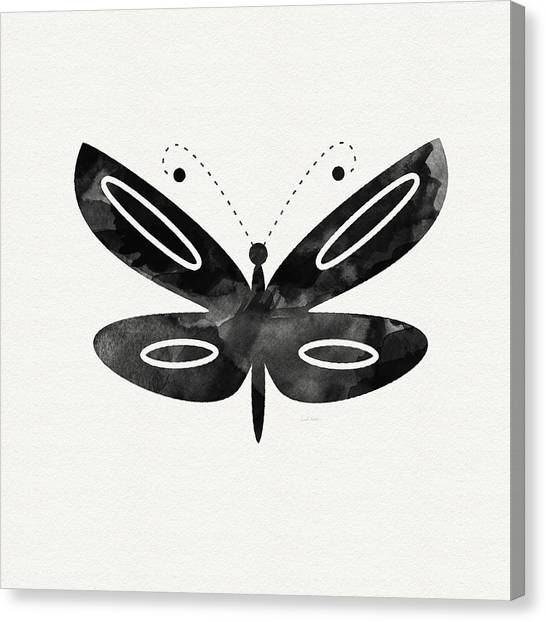 Butterflies Canvas Print - Midnight Butterfly 1- Art By Linda Woods by Linda Woods