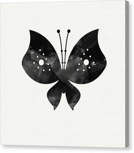Butterflies Canvas Print - Midnight Butterfly 2- Art By Linda Woods by Linda Woods