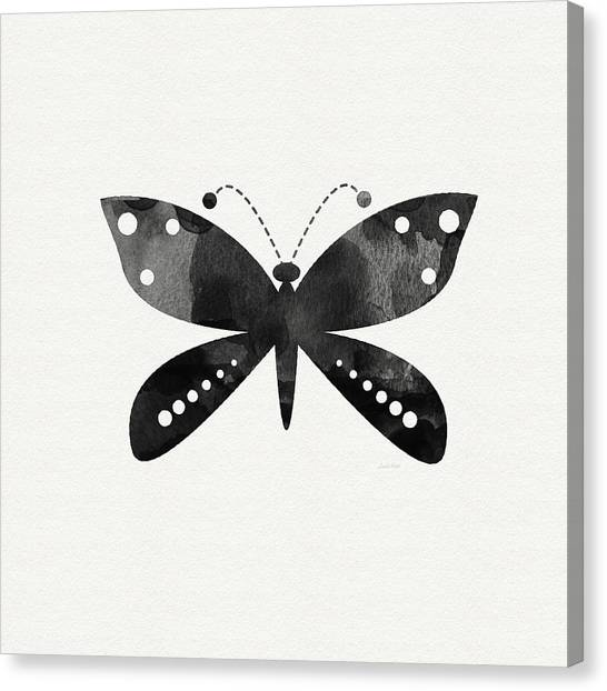 Butterflies Canvas Print - Midnight Butterfly 4- Art By Linda Woods by Linda Woods