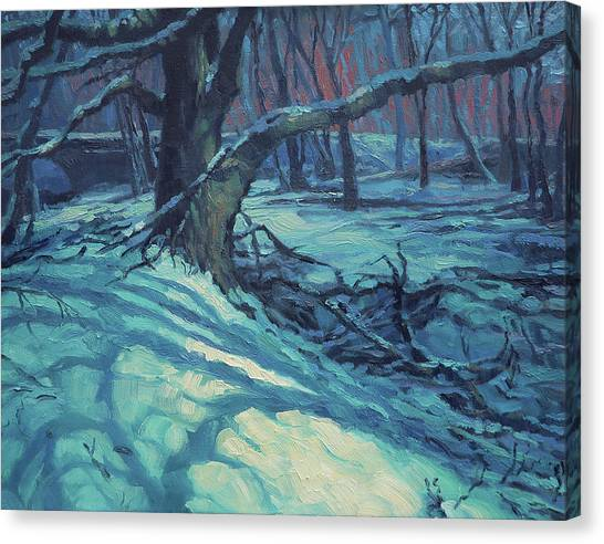 Winter Landscapes Canvas Print - Midnight Coppei by Steve Henderson
