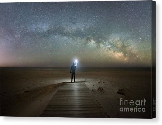 Midnight Explorer At Assateague Island Canvas Print