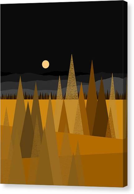 Midnight Gold Canvas Print