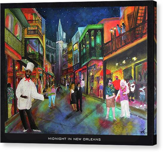 Midnight In New Orleans Canvas Print