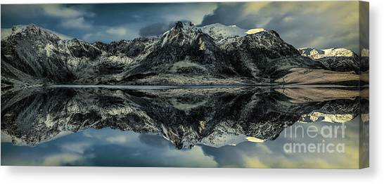 Ogwen Canvas Print - Midnight Lake by Adrian Evans
