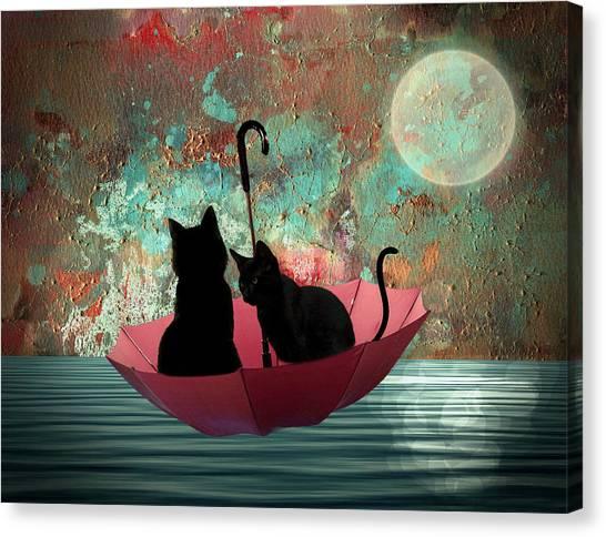 Midnight Love 2 Canvas Print