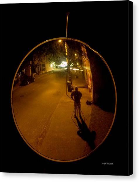 Midnight Mirror Canvas Print by Jim Coe