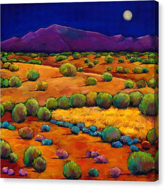 Moon Canvas Print - Midnight Sagebrush by Johnathan Harris