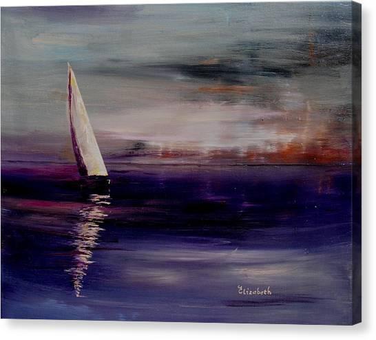 Midnight Sail Canvas Print by Beth Maddox