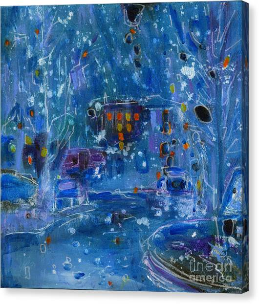 Coldplay Canvas Print - Midnight  by Tanya Filichkin