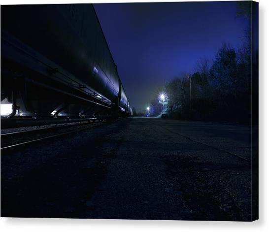Midnight Train 1 Canvas Print by Scott Hovind