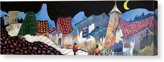 Midnight Walk In Peru Canvas Print