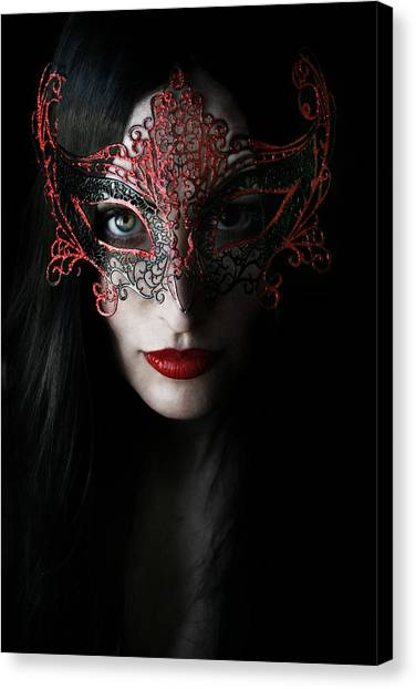 Masquerade Canvas Print - Midnight by Cambion Art