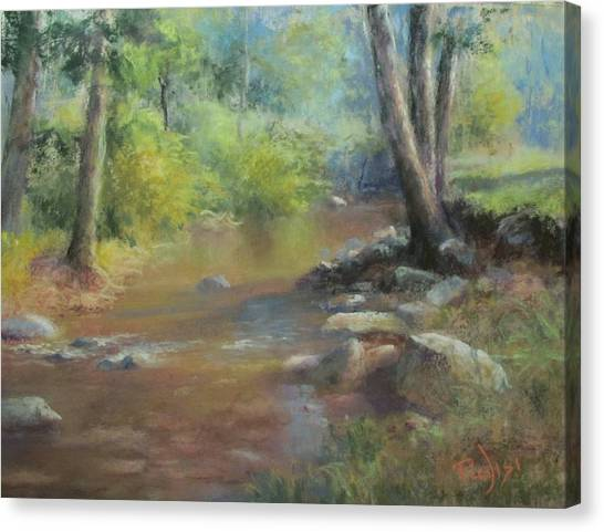 Midsummer Day's Stream Canvas Print
