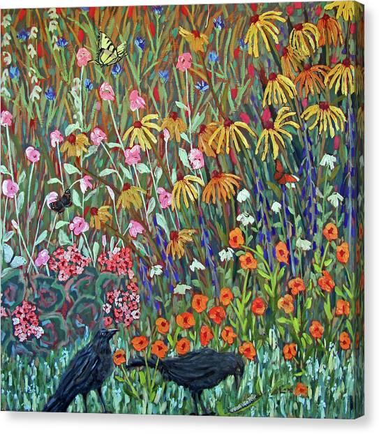 Midsummer Enchantment- Diptych Side A Canvas Print