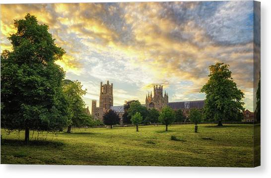 Midsummer Evening In Ely Canvas Print