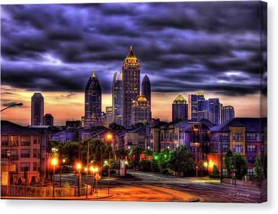Midtown Atlanta Towers Over Atlantic Commons Art Canvas Print