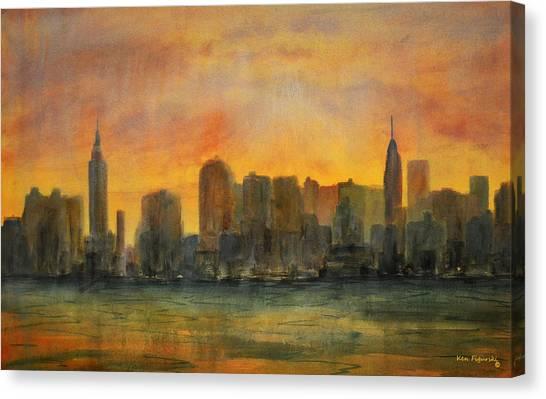 Midtown Morning Canvas Print