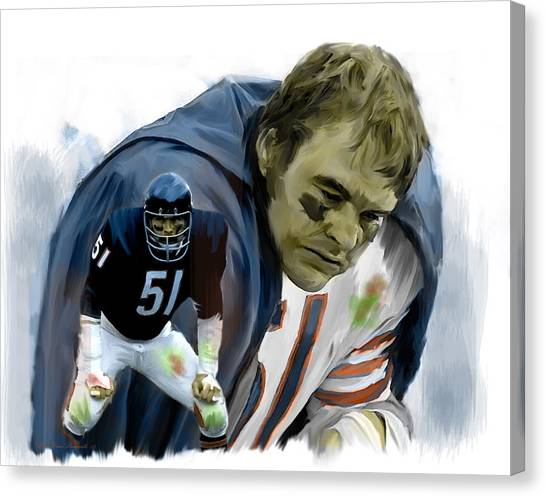 Dick Butkus Canvas Print - Midway  Dick Butkus by Iconic Images Art Gallery David Pucciarelli