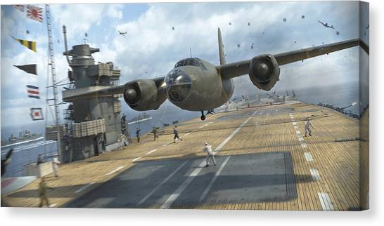 B Canvas Print - Midway Marauder by Robert Perry
