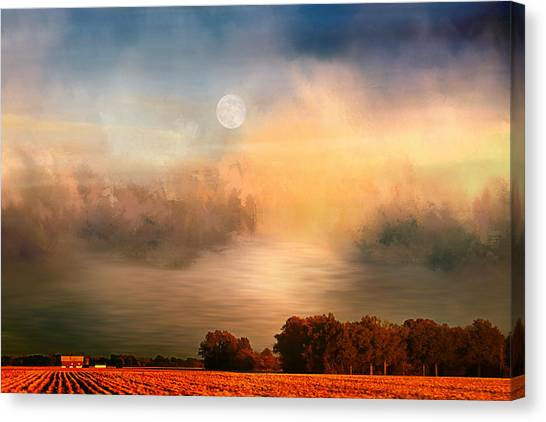 Midwest Harvest Moon Canvas Print