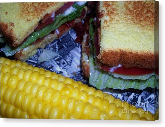 Mayonnaise Canvas Print - Midwest Summer Dinner by Laura Birr Brown